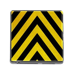 Construction Hazard Stripes Memory Card Reader (square)