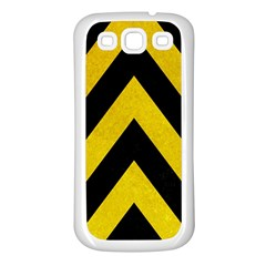 Construction Hazard Stripes Samsung Galaxy S3 Back Case (white) by AnjaniArt