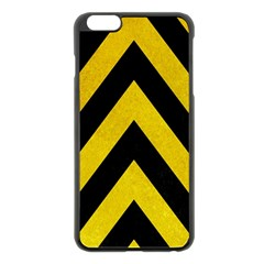 Construction Hazard Stripes Apple Iphone 6 Plus/6s Plus Black Enamel Case