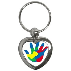 Creativity Painted Hand Copy Key Chains (heart)  by AnjaniArt