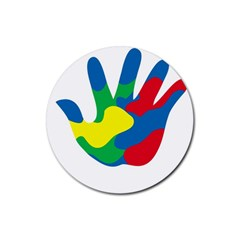 Creativity Painted Hand Copy Rubber Coaster (round)