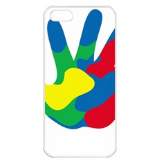 Creativity Painted Hand Copy Apple Iphone 5 Seamless Case (white)