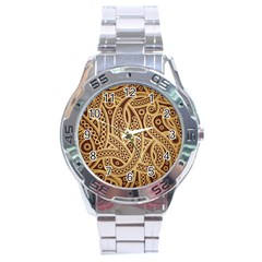 European Fine Pattern Stainless Steel Analogue Watch