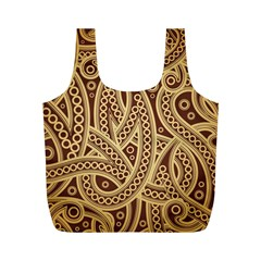 European Fine Pattern Full Print Recycle Bags (m)  by AnjaniArt