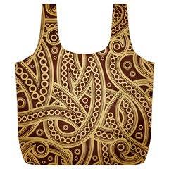 European Fine Pattern Full Print Recycle Bags (l)  by AnjaniArt