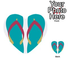 Flip Flop Slippers Copy Multi Purpose Cards (heart)  by AnjaniArt