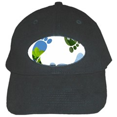 Footprint Recycle Sign Black Cap