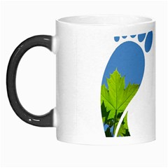 Footprint Recycle Sign Morph Mugs by AnjaniArt