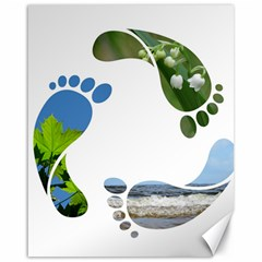 Footprint Recycle Sign Canvas 16  X 20   by AnjaniArt