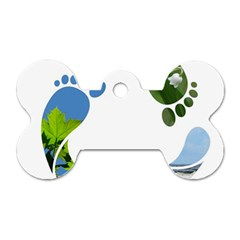 Footprint Recycle Sign Dog Tag Bone (two Sides)