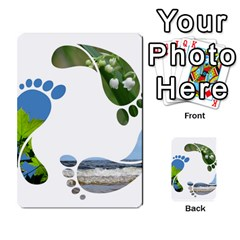 Footprint Recycle Sign Multi Purpose Cards (rectangle)