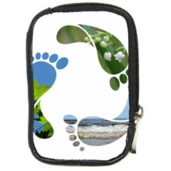 Footprint Recycle Sign Compact Camera Cases by AnjaniArt