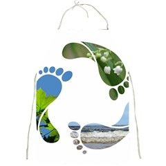 Footprint Recycle Sign Full Print Aprons by AnjaniArt