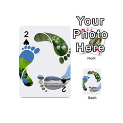 Footprint Recycle Sign Playing Cards 54 (mini)