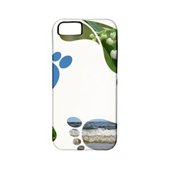 Footprint Recycle Sign Apple Iphone 5 Classic Hardshell Case (pc+silicone)