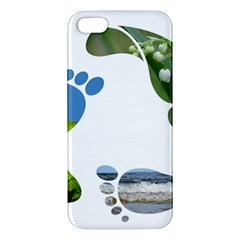 Footprint Recycle Sign Apple Iphone 5 Premium Hardshell Case