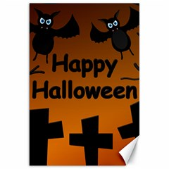 Happy Halloween - Bats On The Cemetery Canvas 20  X 30   by Valentinaart