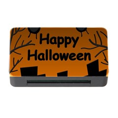 Happy Halloween   Bats On The Cemetery Memory Card Reader With Cf by Valentinaart