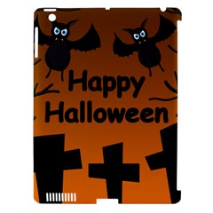 Happy Halloween   Bats On The Cemetery Apple Ipad 3/4 Hardshell Case (compatible With Smart Cover) by Valentinaart