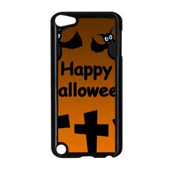 Happy Halloween   Bats On The Cemetery Apple Ipod Touch 5 Case (black) by Valentinaart