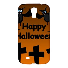 Happy Halloween   Bats On The Cemetery Samsung Galaxy S4 I9500/i9505 Hardshell Case by Valentinaart