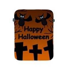 Happy Halloween   Bats On The Cemetery Apple Ipad 2/3/4 Protective Soft Cases by Valentinaart