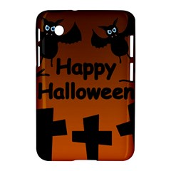 Happy Halloween   Bats On The Cemetery Samsung Galaxy Tab 2 (7 ) P3100 Hardshell Case  by Valentinaart