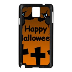 Happy Halloween   Bats On The Cemetery Samsung Galaxy Note 3 N9005 Case (black) by Valentinaart