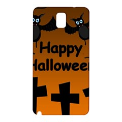 Happy Halloween   Bats On The Cemetery Samsung Galaxy Note 3 N9005 Hardshell Back Case by Valentinaart