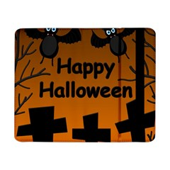 Happy Halloween   Bats On The Cemetery Samsung Galaxy Tab Pro 8 4  Flip Case by Valentinaart