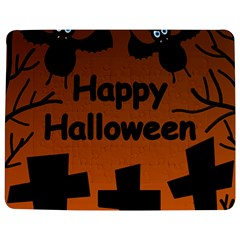 Happy Halloween   Bats On The Cemetery Jigsaw Puzzle Photo Stand (rectangular) by Valentinaart