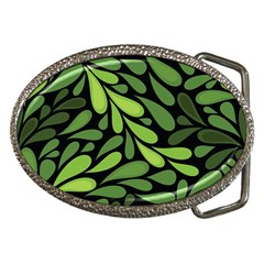 Free Green Nature Leaves Seamless Belt Buckles by AnjaniArt
