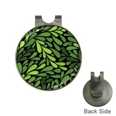 Free Green Nature Leaves Seamless Hat Clips With Golf Markers by AnjaniArt