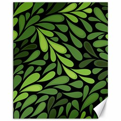 Free Green Nature Leaves Seamless Canvas 11  X 14
