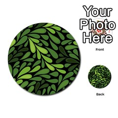 Free Green Nature Leaves Seamless Multi Purpose Cards (round)  by AnjaniArt
