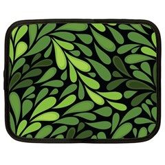Free Green Nature Leaves Seamless Netbook Case (xl)  by AnjaniArt