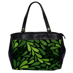 Free Green Nature Leaves Seamless Office Handbags