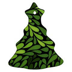 Free Green Nature Leaves Seamless Ornament (christmas Tree)