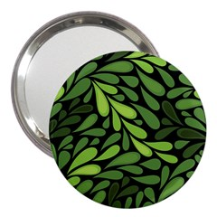Free Green Nature Leaves Seamless 3  Handbag Mirrors by AnjaniArt