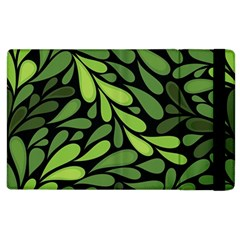 Free Green Nature Leaves Seamless Apple Ipad 2 Flip Case