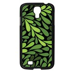 Free Green Nature Leaves Seamless Samsung Galaxy S4 I9500/ I9505 Case (Black) Front
