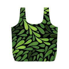 Free Green Nature Leaves Seamless Full Print Recycle Bags (m)  by AnjaniArt