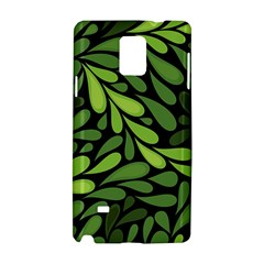 Free Green Nature Leaves Seamless Samsung Galaxy Note 4 Hardshell Case
