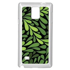 Free Green Nature Leaves Seamless Samsung Galaxy Note 4 Case (white) by AnjaniArt