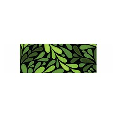 Free Green Nature Leaves Seamless Satin Scarf (oblong) by AnjaniArt