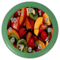 Fruit Salad Color Wall Clocks by AnjaniArt