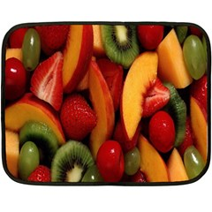 Fruit Salad Double Sided Fleece Blanket (mini)  by AnjaniArt