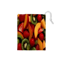 Fruit Salad Drawstring Pouches (small)  by AnjaniArt