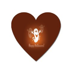 Funny Halloween Heart Magnet by AnjaniArt