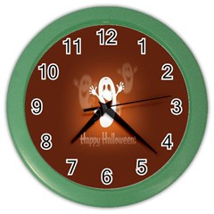 Funny Halloween Color Wall Clocks by AnjaniArt